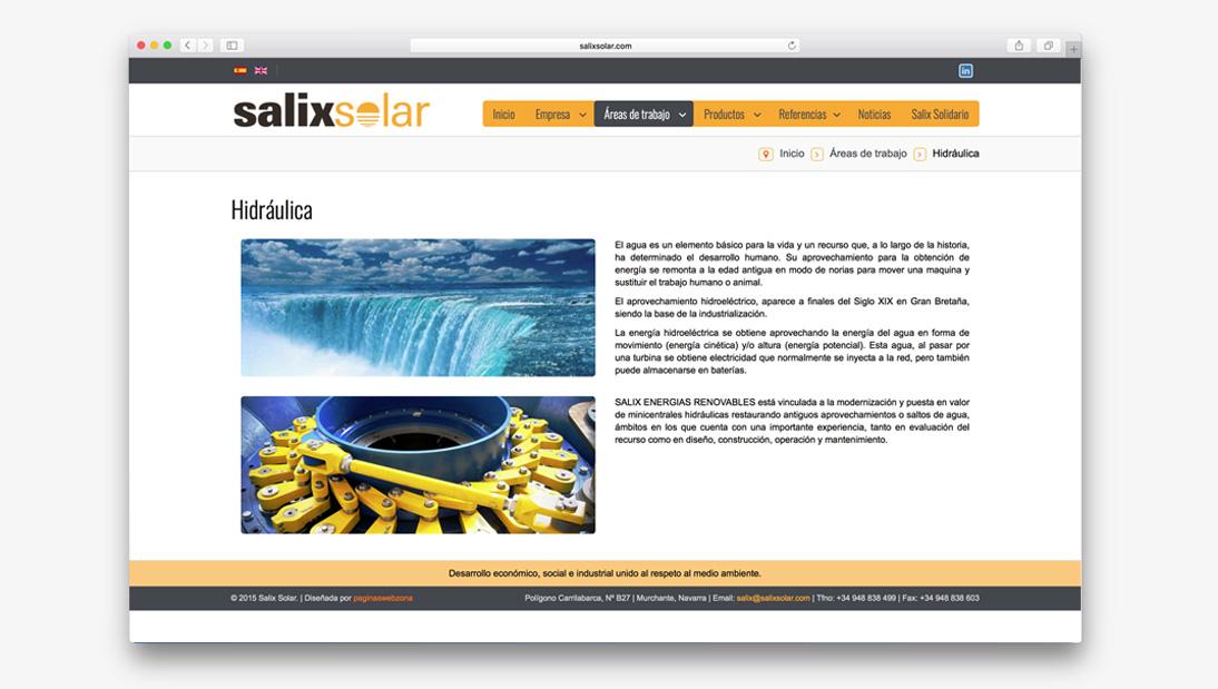 Proyecto web Salix Solar