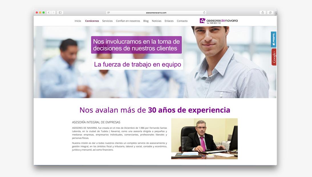 Proyecto web Asesores de Navarra