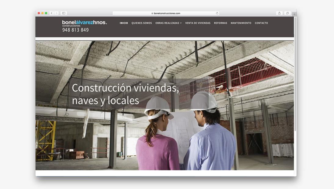 Proyecto web Bonel Construcciones