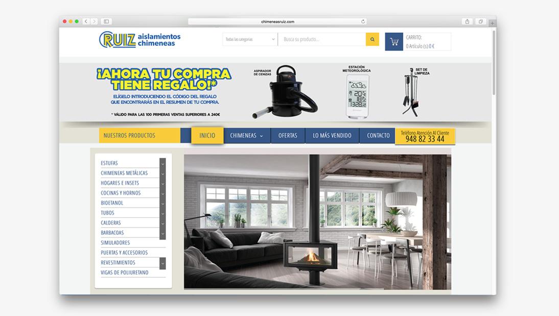Proyecto tienda online Chimeneas Ruiz