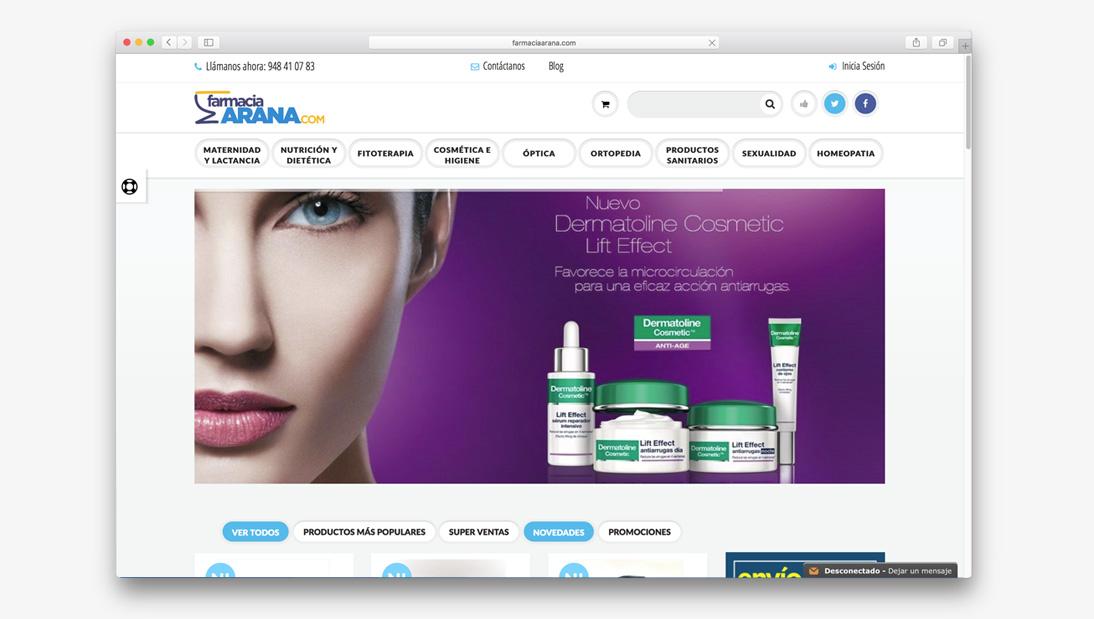 Proyecto tienda online Farmacia Arana