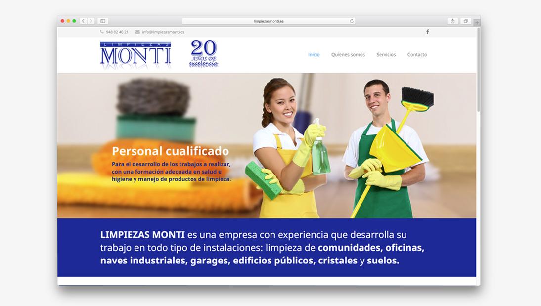 Proyecto web Limpiezas Monti