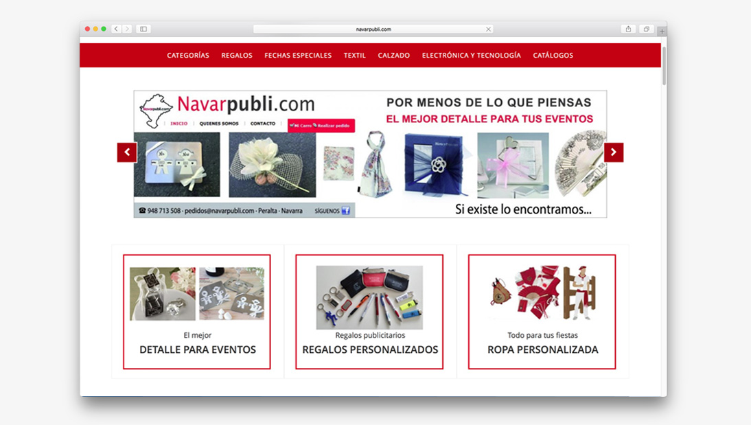 Proyecto tienda online Navarpubli