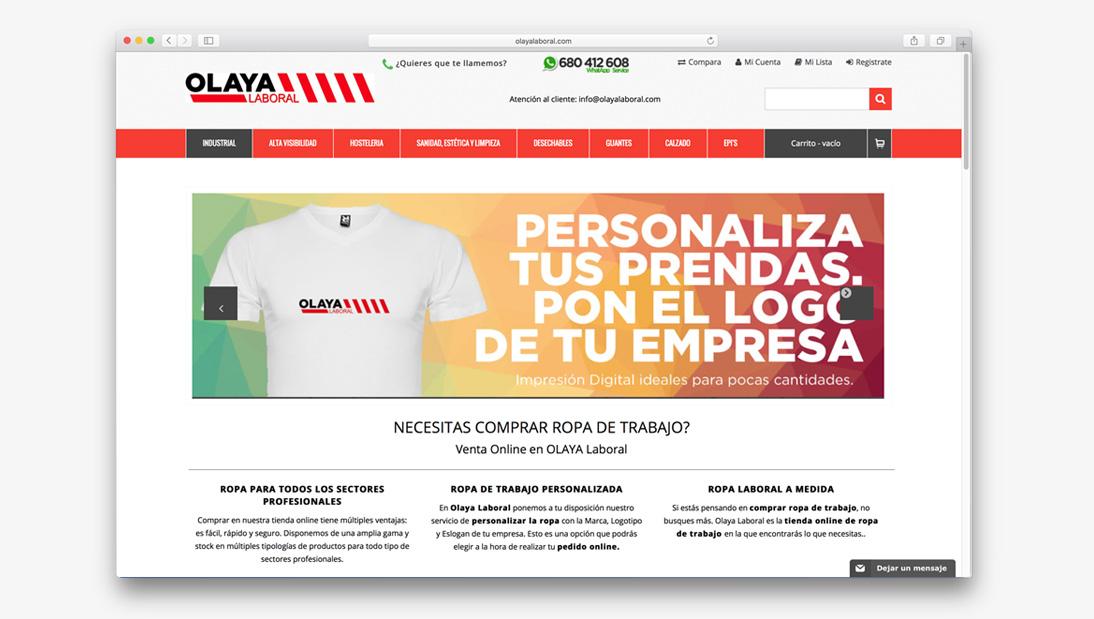 Proyecto tienda online Olaya Laboral