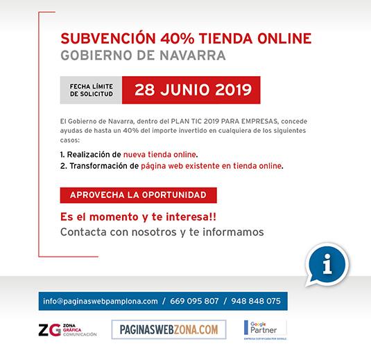 Subvención Gobierno Navarra Comercio Electrónico