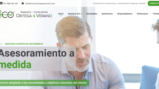 Página web de asesoría